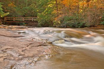 Swallow Falls Stream & Bridge - HDR