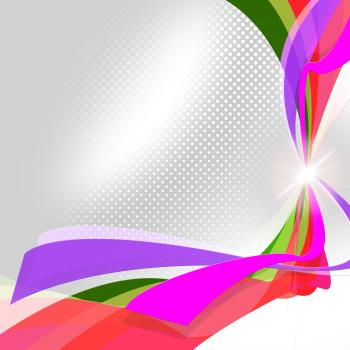 Swirl Ribbons Means Empty Space And Abstract