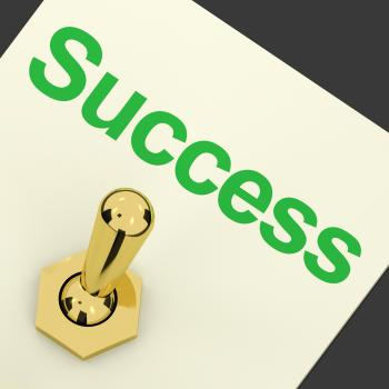 Switch With Success Text As Symbol Of Winning And Victory