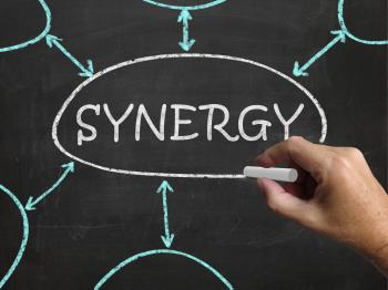 Synergy Blackboard Means Joint Effort And Cooperation
