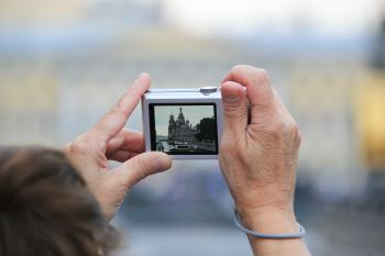 Taking photo of church