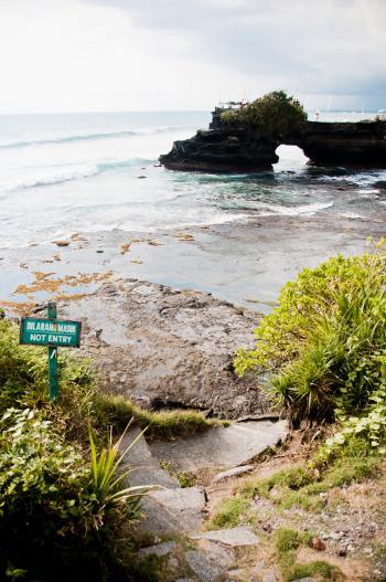 Tanah Lot Temple on Sea in Bali Island