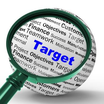 Target Magnifier Definition Means Business Goals And Objectives