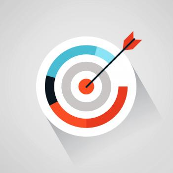 Targeting your audience - Arrow and target