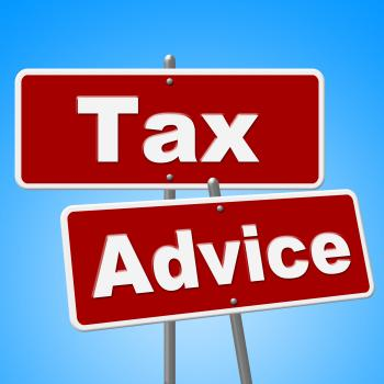 Tax Advice Signs Represents Help Faq And Instructions
