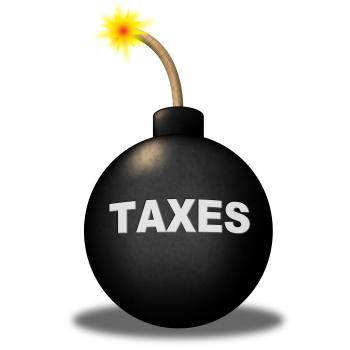 Taxes Alert Shows Duty Safety And Taxpayer
