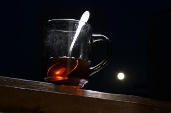 Tea & moon