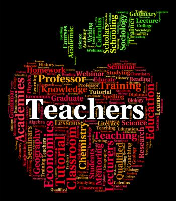 Teachers Word Indicates Give Lessons And Coach