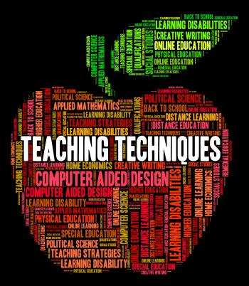 Teaching Techniques Means Tutor Teacher And Taught