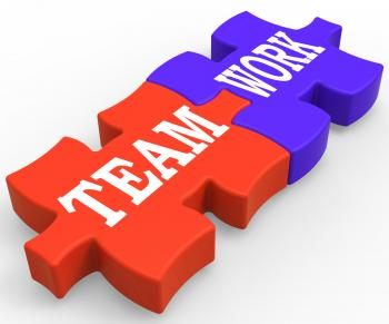 Teamwork Shows Community Working Together
