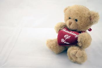 Teddy bear on the right