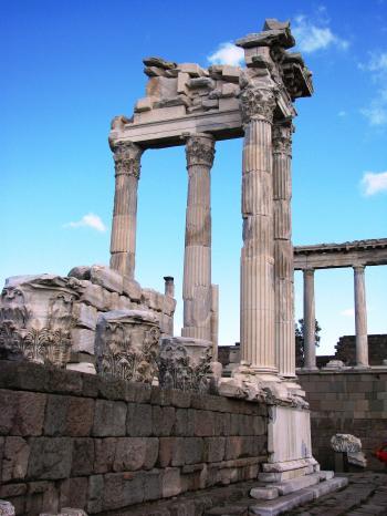 Temple of Trajan in Pergamon Turkey