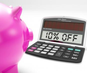 Ten Percent Off Calculator Shows 10 Discount