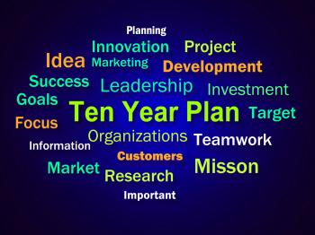 Ten Year Plan Brainstorm Means Company Schedule For 10 Years