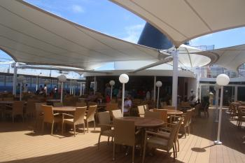 Terrace on the deck of the ship