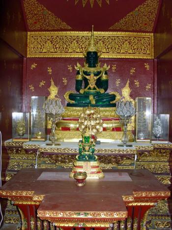 Thai Buddhist Temple Interior
