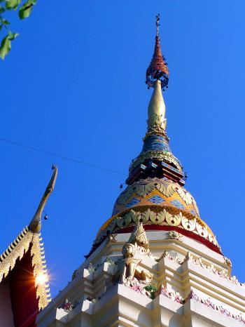 Thai Buddhist temple pagoda