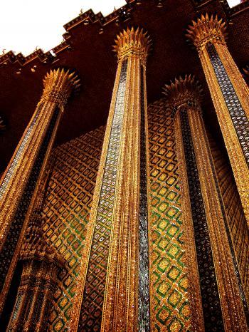 Thailand - Columns of Phra Mondop in Bangkok