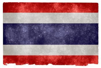 Thailand Grunge Flag