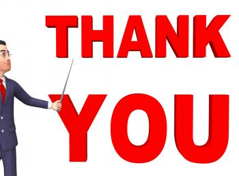 Thank You Means Business Person And Businessman 3d Rendering