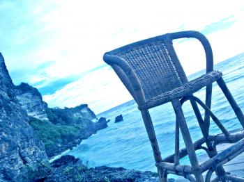 The chair above the sea
