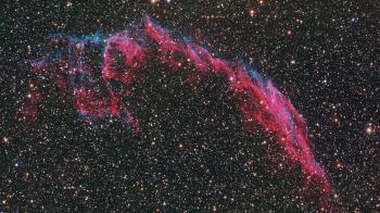 The Eastern Veil Nebula part of the Cygnus Loop
