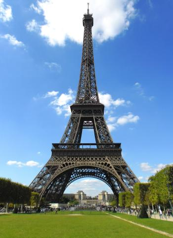The Eiffel Tower in Paris - France