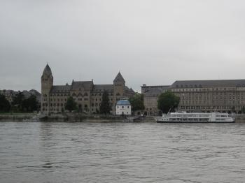 The Rhein river at Koblenz, Germany