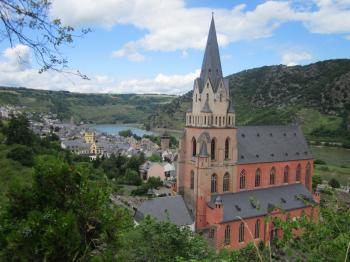 The town of Oberwesel, Germany
