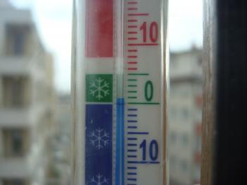 Thermometer in the winter