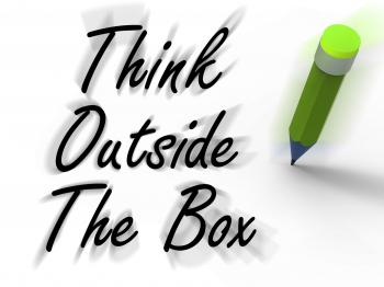 Think Outside the Box Displays Creativity and Imagination