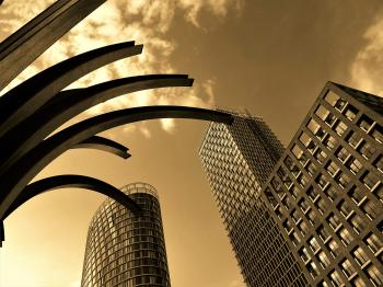 Three Concrete Buildings