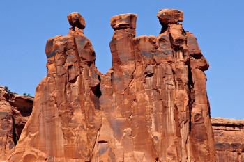 Three Gossips at Arches National Park