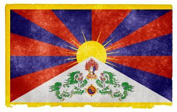 Tibet Grunge Flag