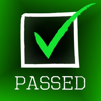 Tick Passed Means Approval Assurance And Confirm