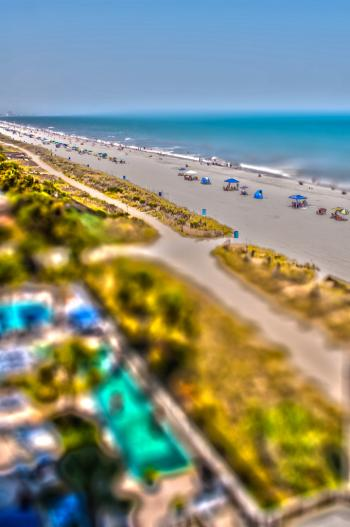 Tilt-shift Beach