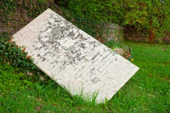 Tilted Tombstone - HDR