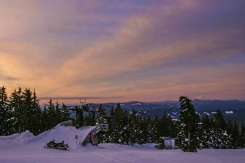 Timberline Lodge, Oregon, Sunrise view