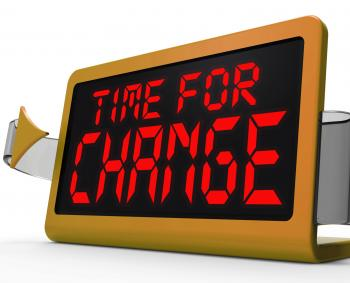Time For Change Clock Shows Revision New Strategy And Goals