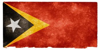 Timor-Leste Grunge Flag