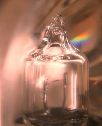Tiny Lightbulb Magnified