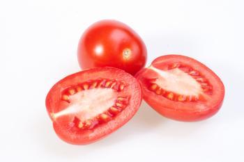 Tomato cut in half