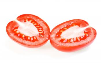 Tomato cut in half