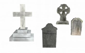 Tombstones Set - Isolated