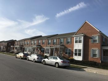 Townhouses, 500 block of Baker Street (north side), Baltimore, MD 21217