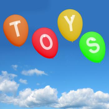 Toys Balloons Represent Kids and Childrens Playthings