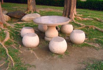 Traditional Chinese Stone Table and Stoo