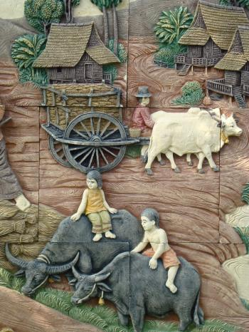 Traditional South-East Asian Rural Scene