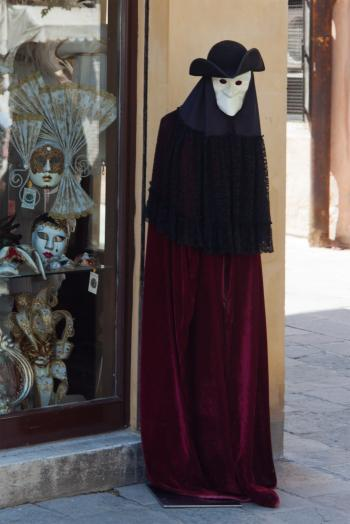 Traditional venice mask on mannequin