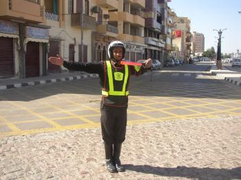Traffic policeman in Egypt